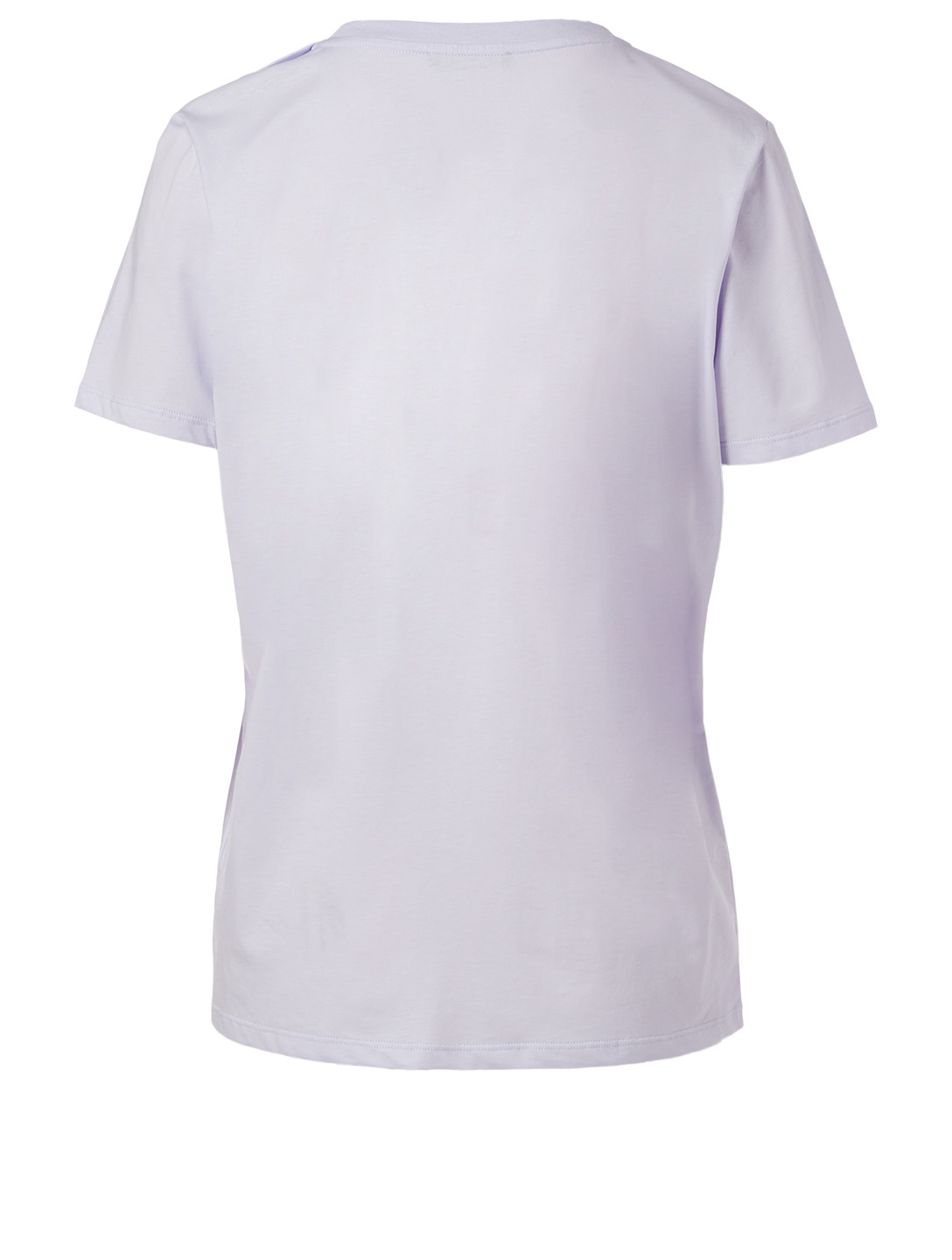 BALMAIN Cotton Logo T-Shirt With Buttons Women's Purple