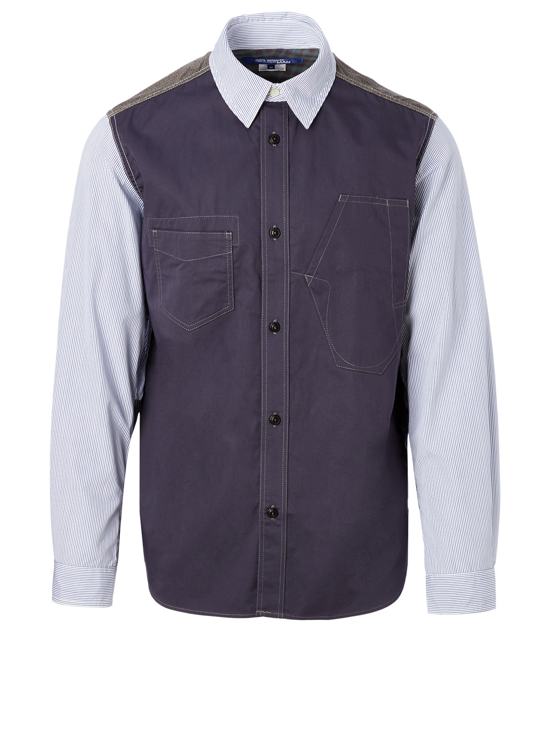 JUNYA WATANABE Cotton Shirt With Elbow Patch Men's Multi