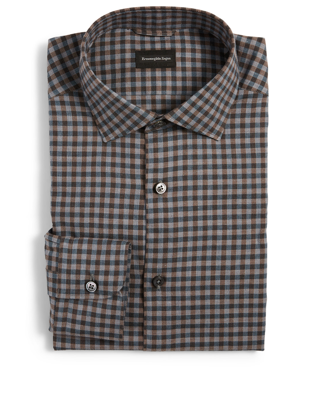ERMENEGILDO ZEGNA Cotton Shirt In Check Print Men's Multi