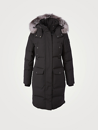 MOOSE KNUCKLES Causapcal Down Parka With Fur Hood Women's Black