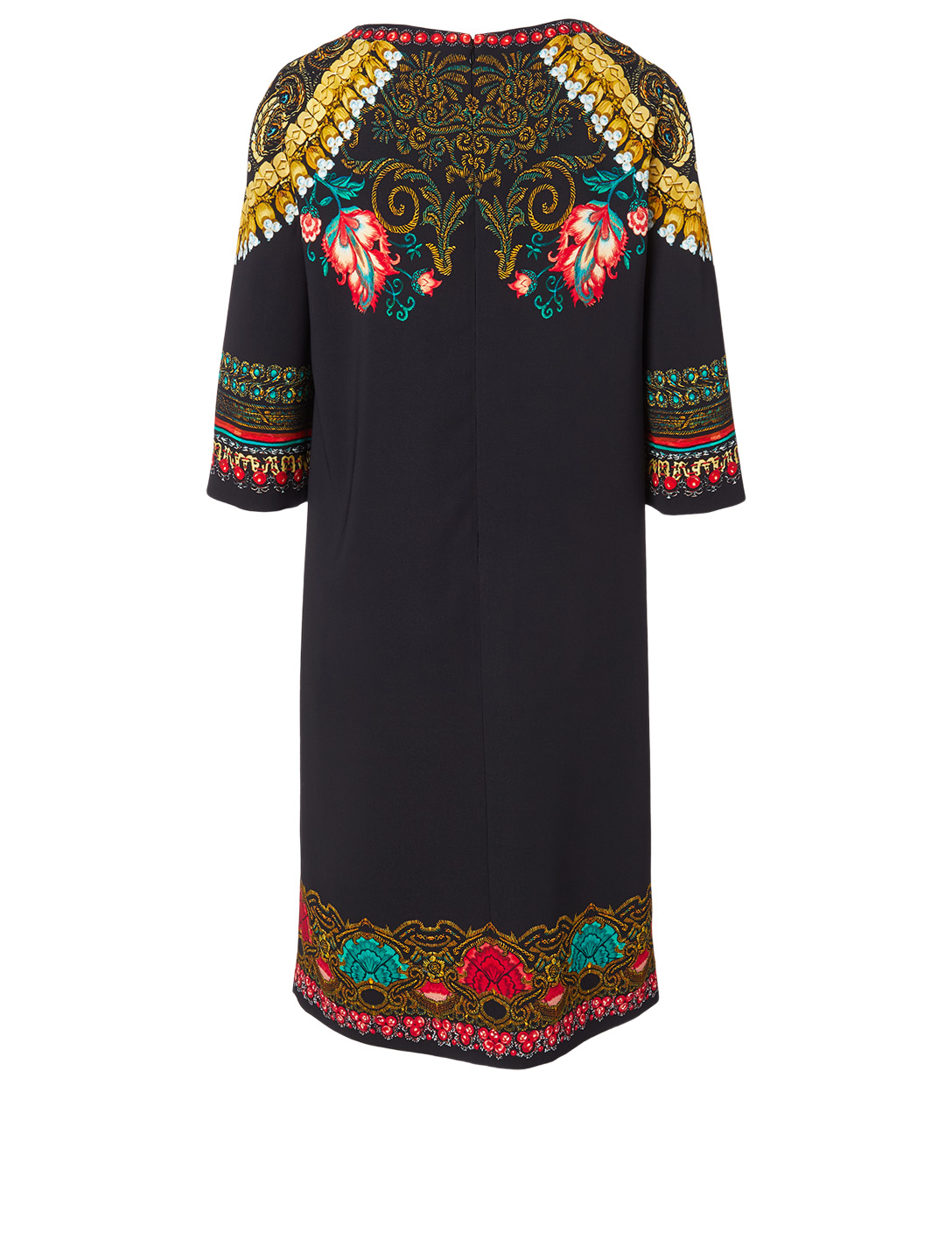 ETRO Tunic Dress In Floral Print Women's Black