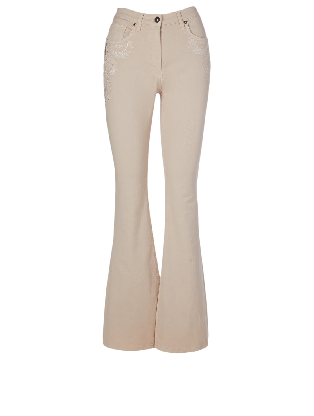 ETRO Cotton Stretch Flare Jeans Women's White