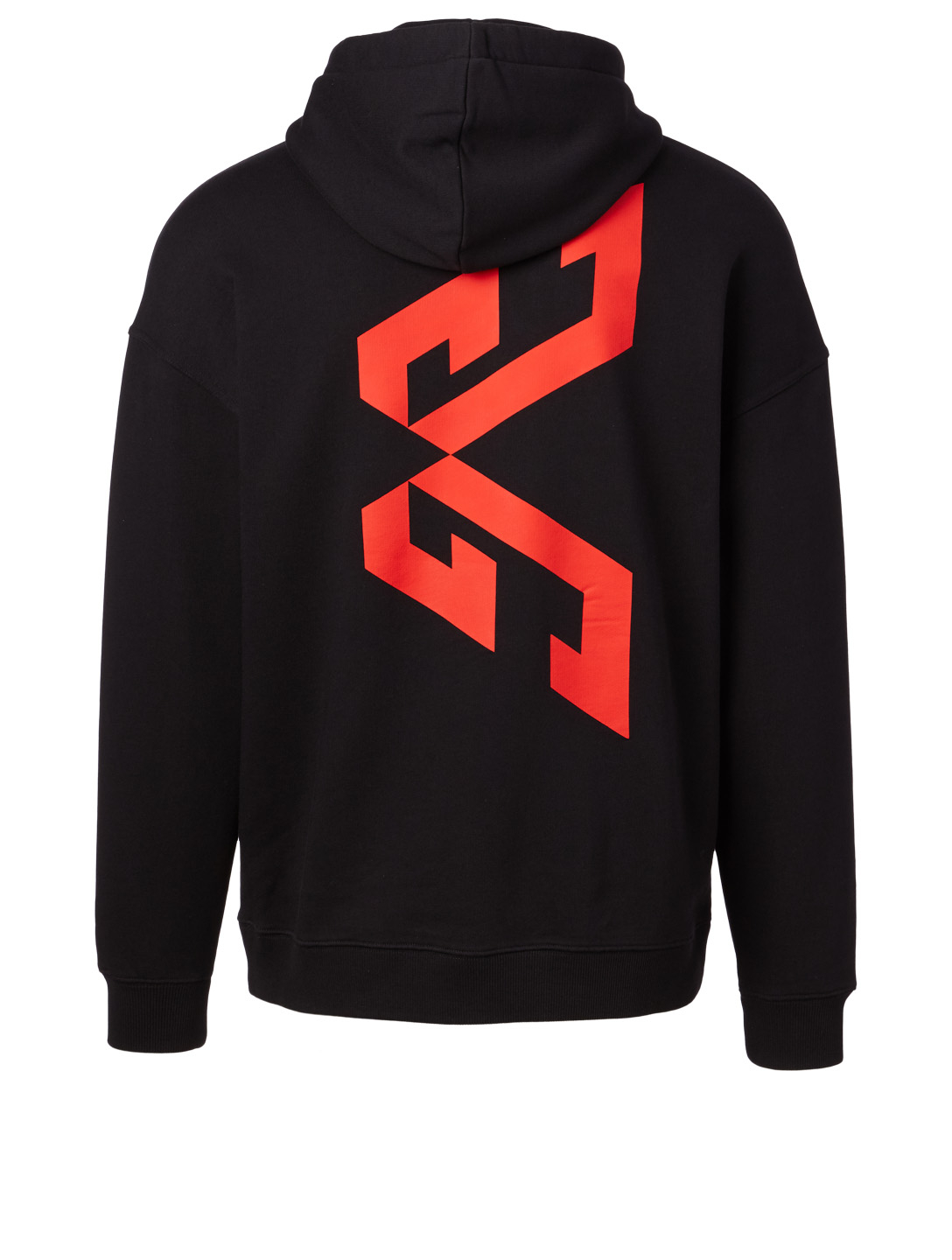 GIVENCHY Cotton Graphic Hoodie Designers Black