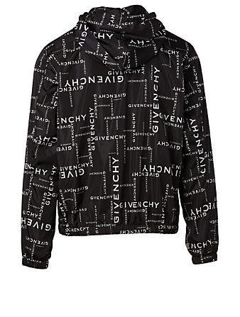 GIVENCHY Logo Windbreaker Jacket Designers Black