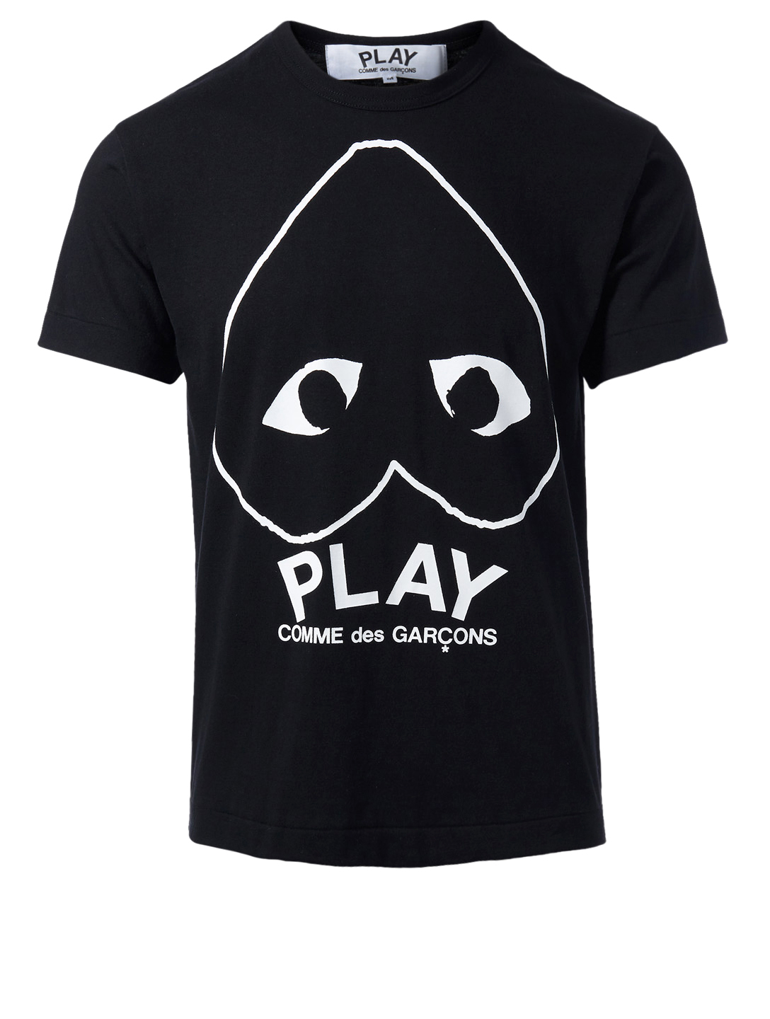 30738c4232f52 COMME DES GARÇONS PLAY Upside Down Heart T-Shirt Men s Black ...