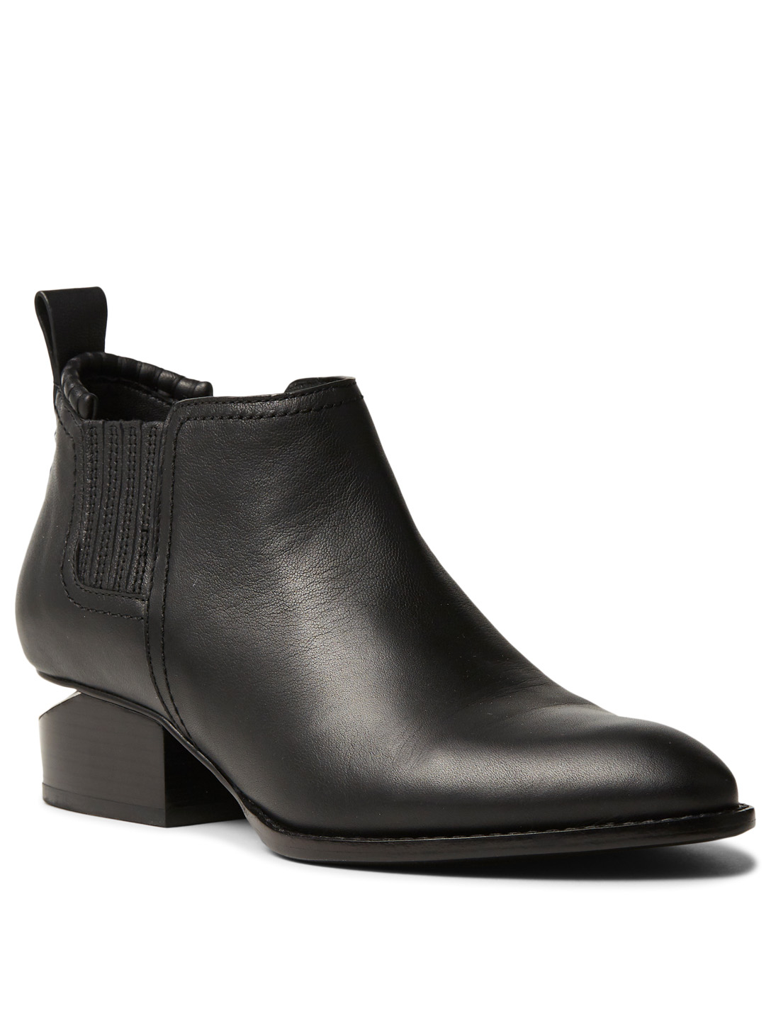 98e5c9d8919e8f ... ALEXANDER WANG Kori Leather Ankle Boots Womens Black ...