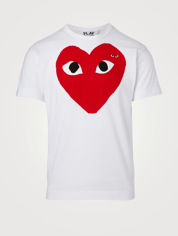 Comme Des Garcons Play Double Heart T Shirt Holt Renfrew