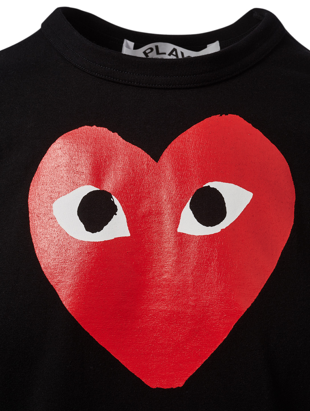 COMME DES GARÇONS PLAY Graphic Heart T-Shirt Men's Black