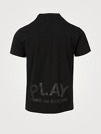 COMME DES GARÇONS PLAY Cotton Double Heart Logo T-Shirt Men's Black