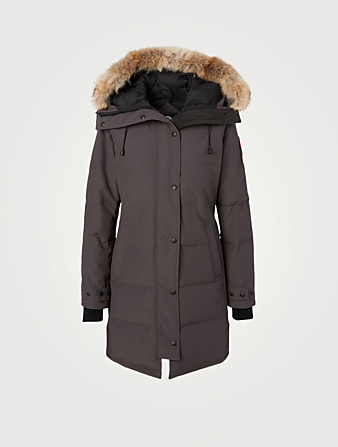 CANADA GOOSE Shelburne Down Parka With Fur Womens Grey