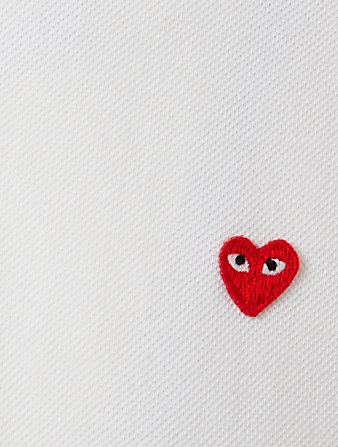 COMME DES GARÇONS PLAY Mini Heart Polo Shirt Men's White