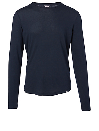 ORLEBAR BROWN OB-T Merino Long-Sleeve T-Shirt Men's Blue