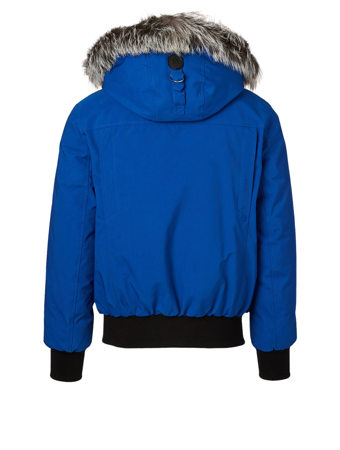 MACKAGE Dixon Down Bomber Jacket With Silverfox Fur Hood Men's Blue