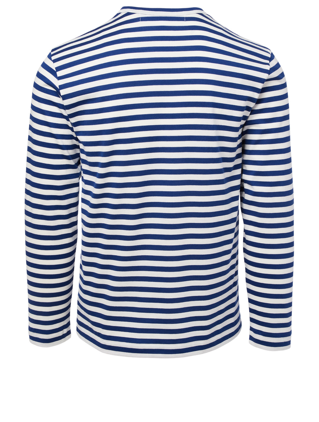 COMME DES GARÇONS PLAY Heart Long Sleeve T-Shirt In Stripe Men's Blue