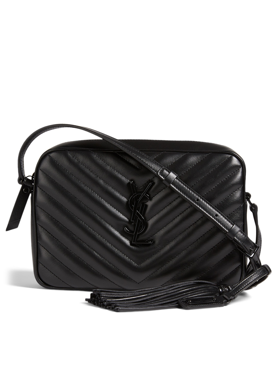 Saint Laurent Lou Ysl Monogram Leather Crossbody Camera
