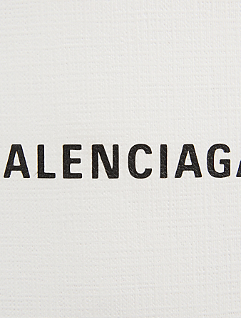 BALENCIAGA Shopping Leather Phone Holder Bag Women's White