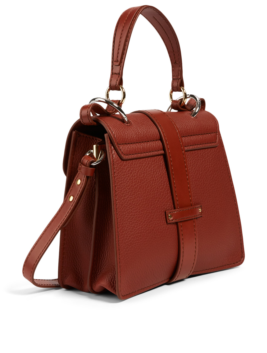 CHLOÉ Small Aby Leather Day Bag Women's Brown