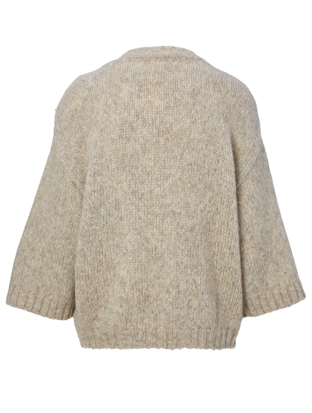 BA&SH Pepite Wool-Blend Sweater Women's Beige