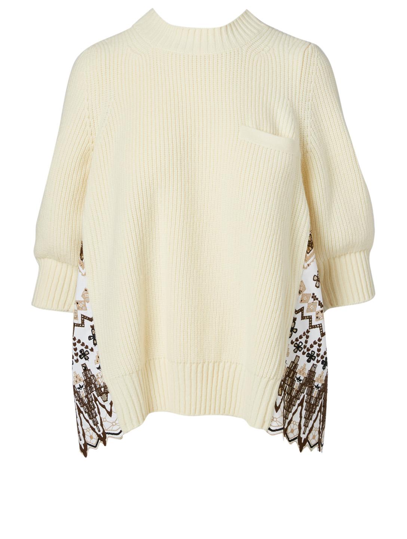 SACAI Wool Fair Isle Sweater | Holt Renfrew
