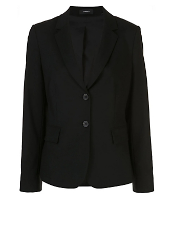 THEORY Carissa Wool Stretch Blazer Women's Black
