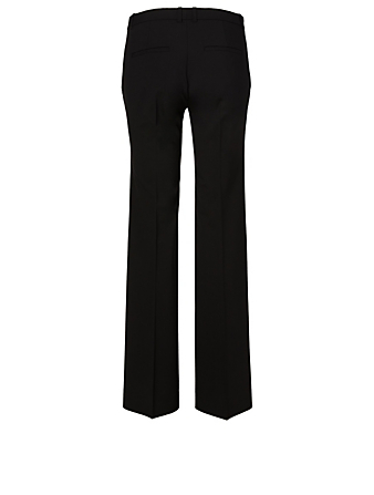 THEORY Demitria Wool Stretch Flared Pants Women's Black