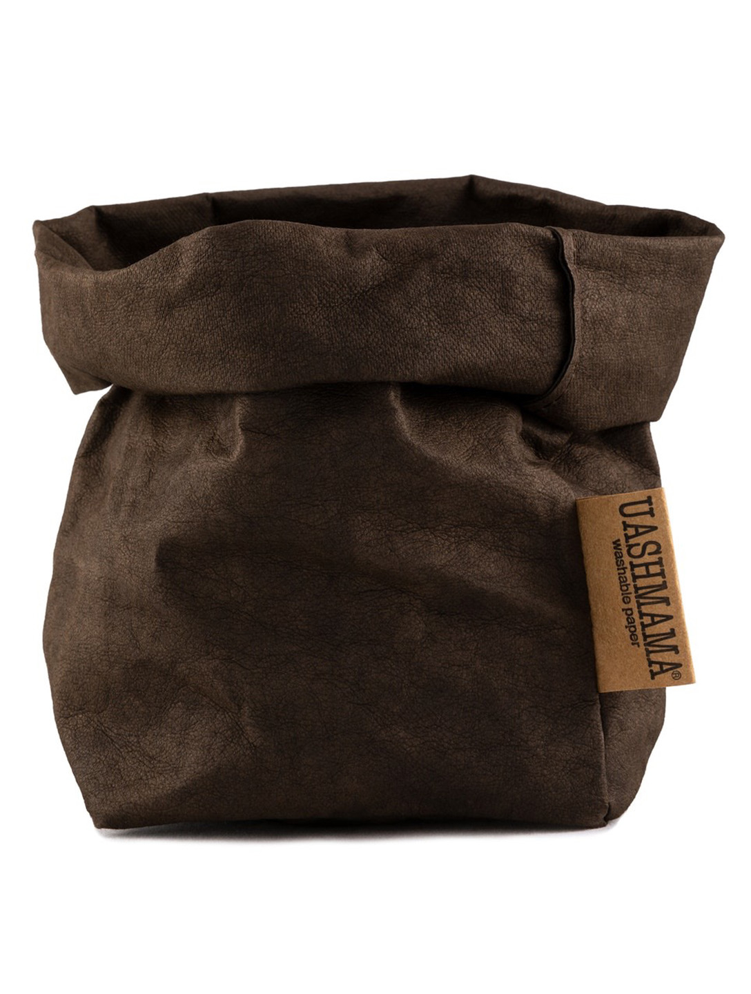 UASHMAMA Small Paper Bag H Project Brown