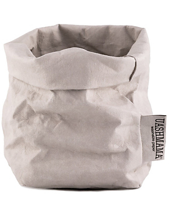 UASHMAMA Small Paper Bag H Project Grey