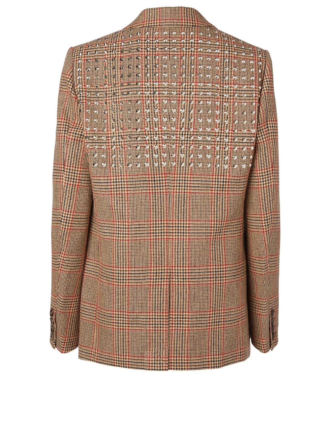 JUNYA WATANABE Wool And Linen Blazer In Check Print Women's Beige