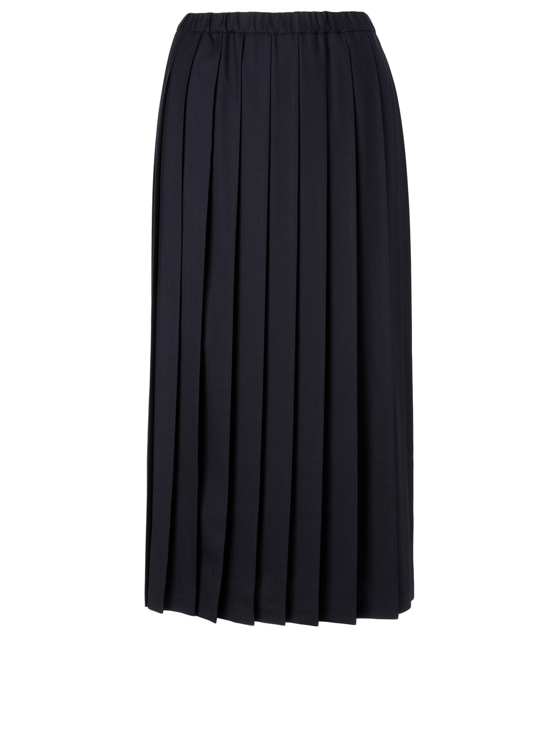 JUNYA WATANABE Wool And Cotton Midi Skirt Women's Blue