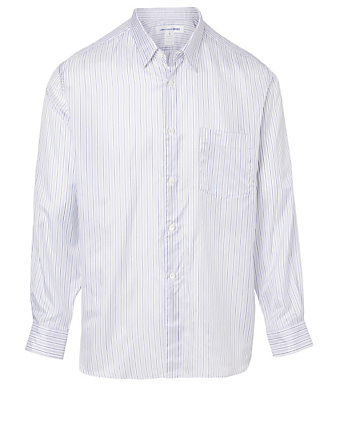COMME DES GARÇONS SHIRT Long-Sleeve Shirt In Stripe Print Men's White