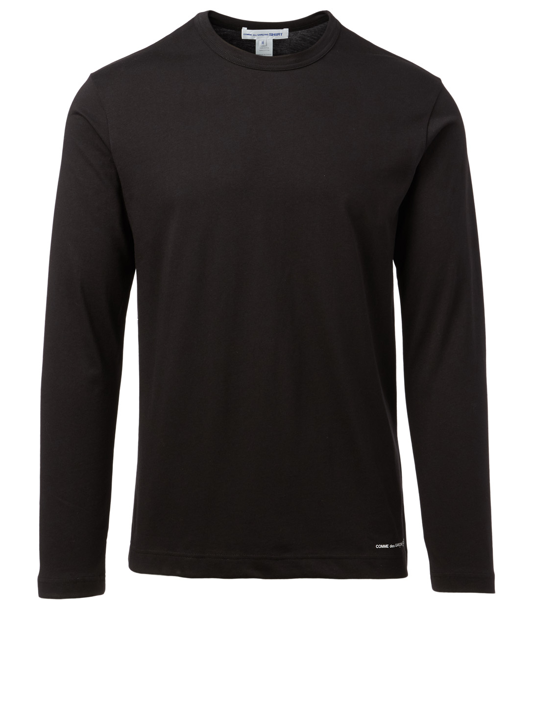 COMME DES GARÇONS SHIRT Cotton Logo Long-Sleeve T-Shirt Men's Black