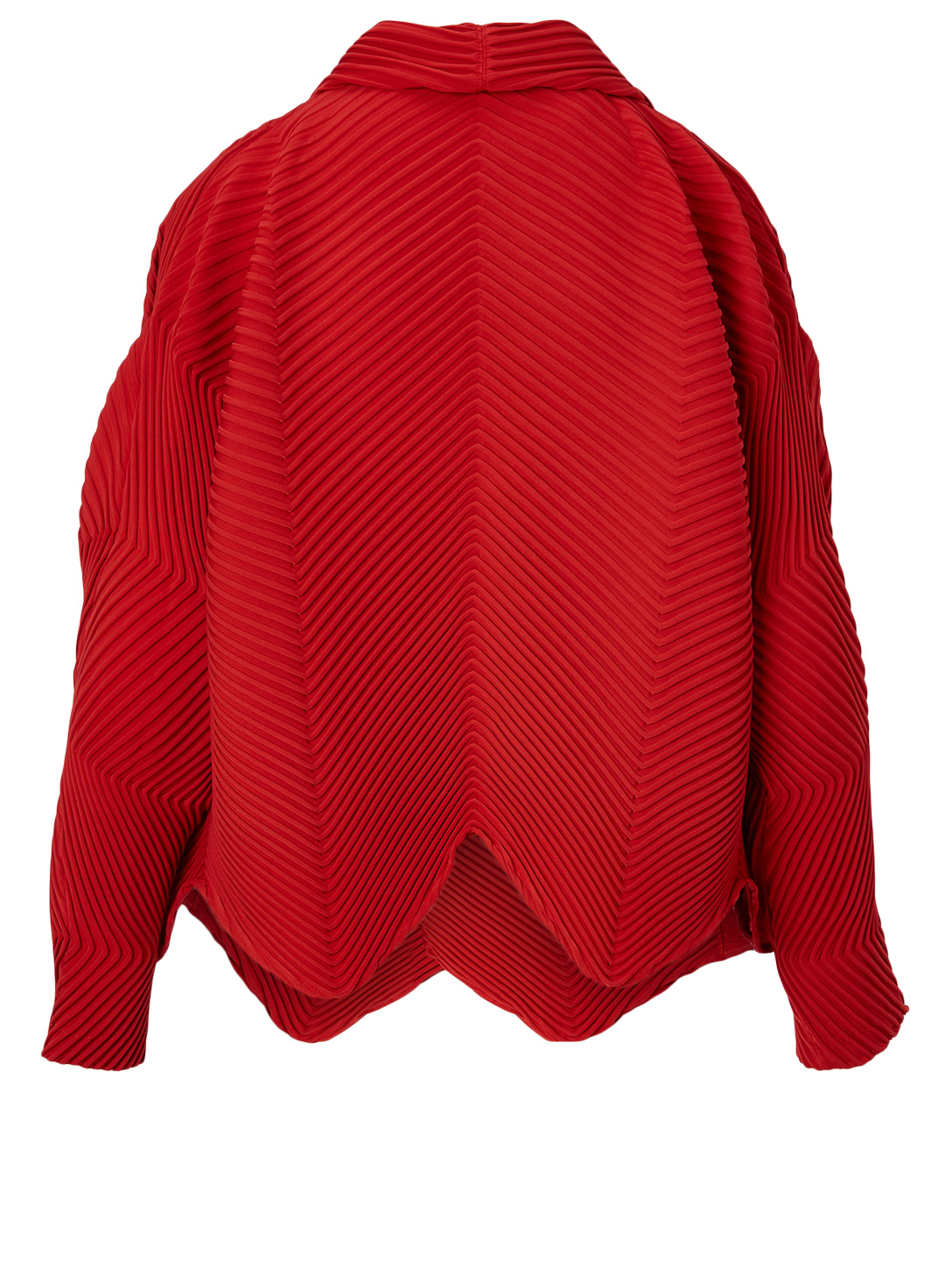 ISSEY MIYAKE Pleated Jacket Women's Red