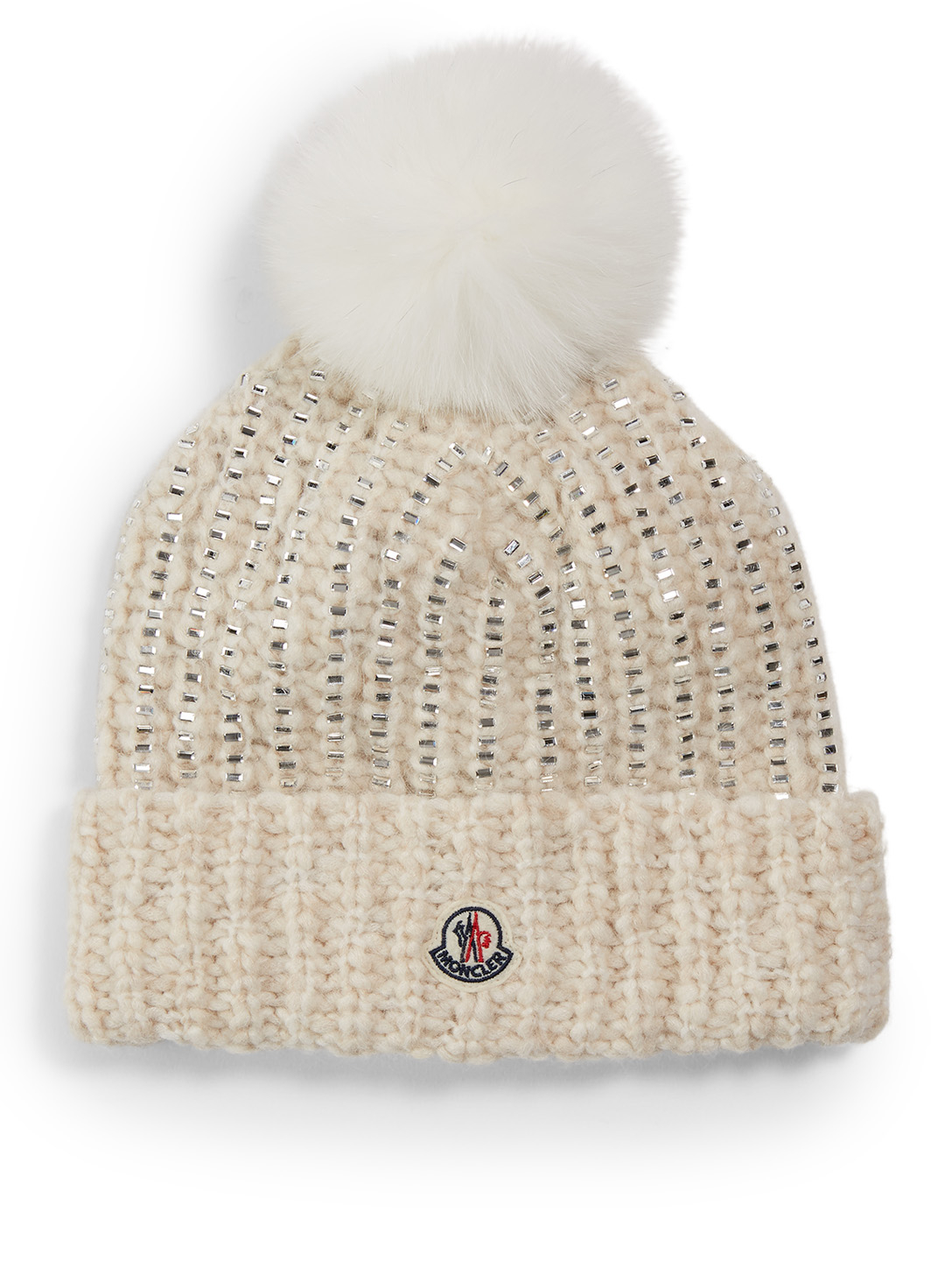 MONCLER Sparkle Toque With Pom Women's White