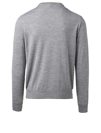 ELEVENTY Wool And Silk Long-Sleeve Sweater Men's Grey
