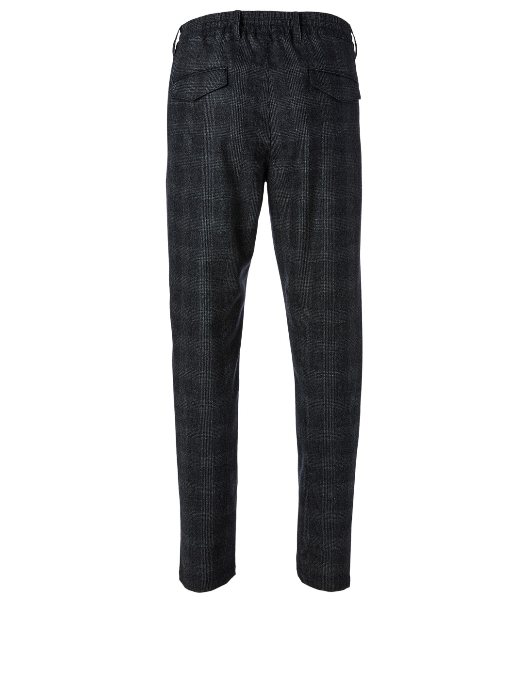 ELEVENTY Wool And Cashmere Pants In Check Print Men's Grey