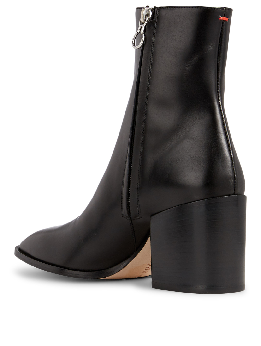 AEYDE Leandra Leather Heeled Ankle Boots Women's Black