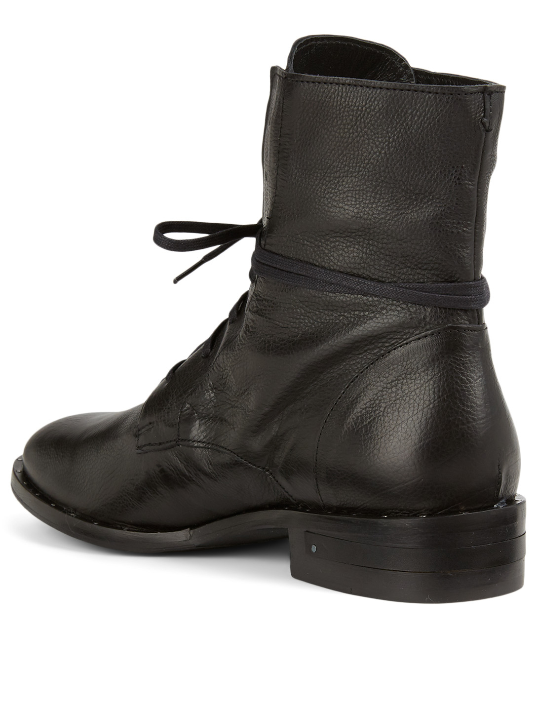 FREDA SALVADOR Alanis Leather Combat Boots Women's Black