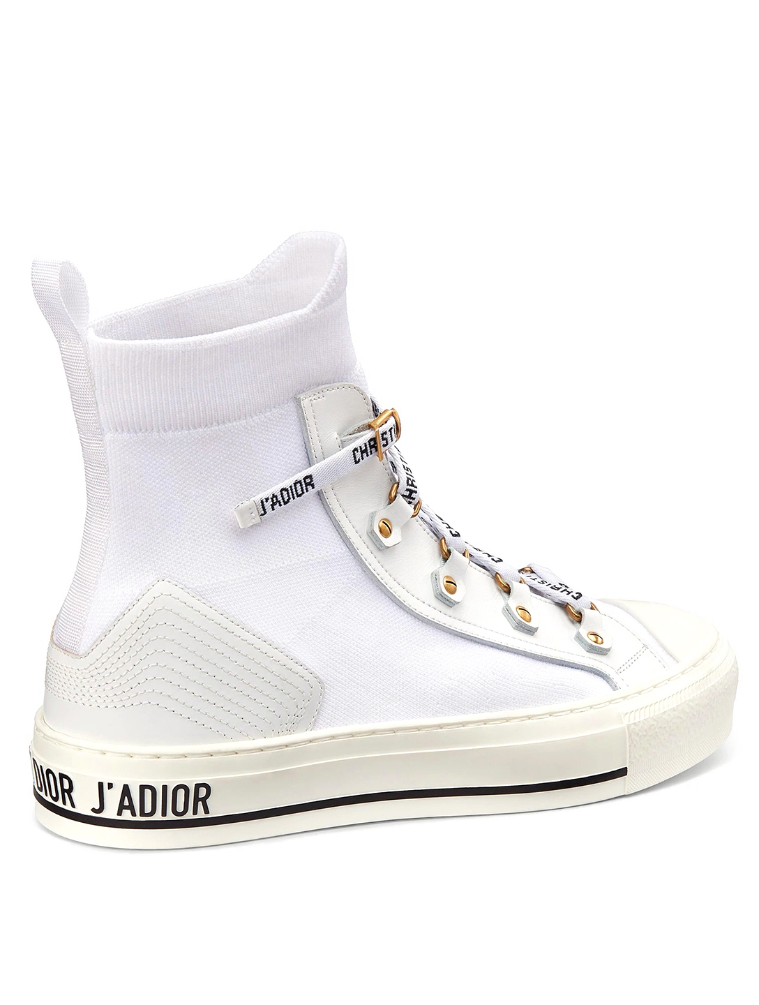 DIOR Walk'N'Dior Technical Knit High-Top Sneakers Women's White