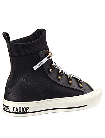 DIOR Walk'N'Dior Technical Knit High-Top Sneakers Women's Black