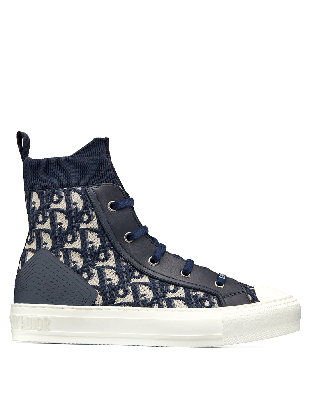 DIOR Walk'N'Dior Dior Oblique Technical Knit High-Top Sneakers Women's Blue