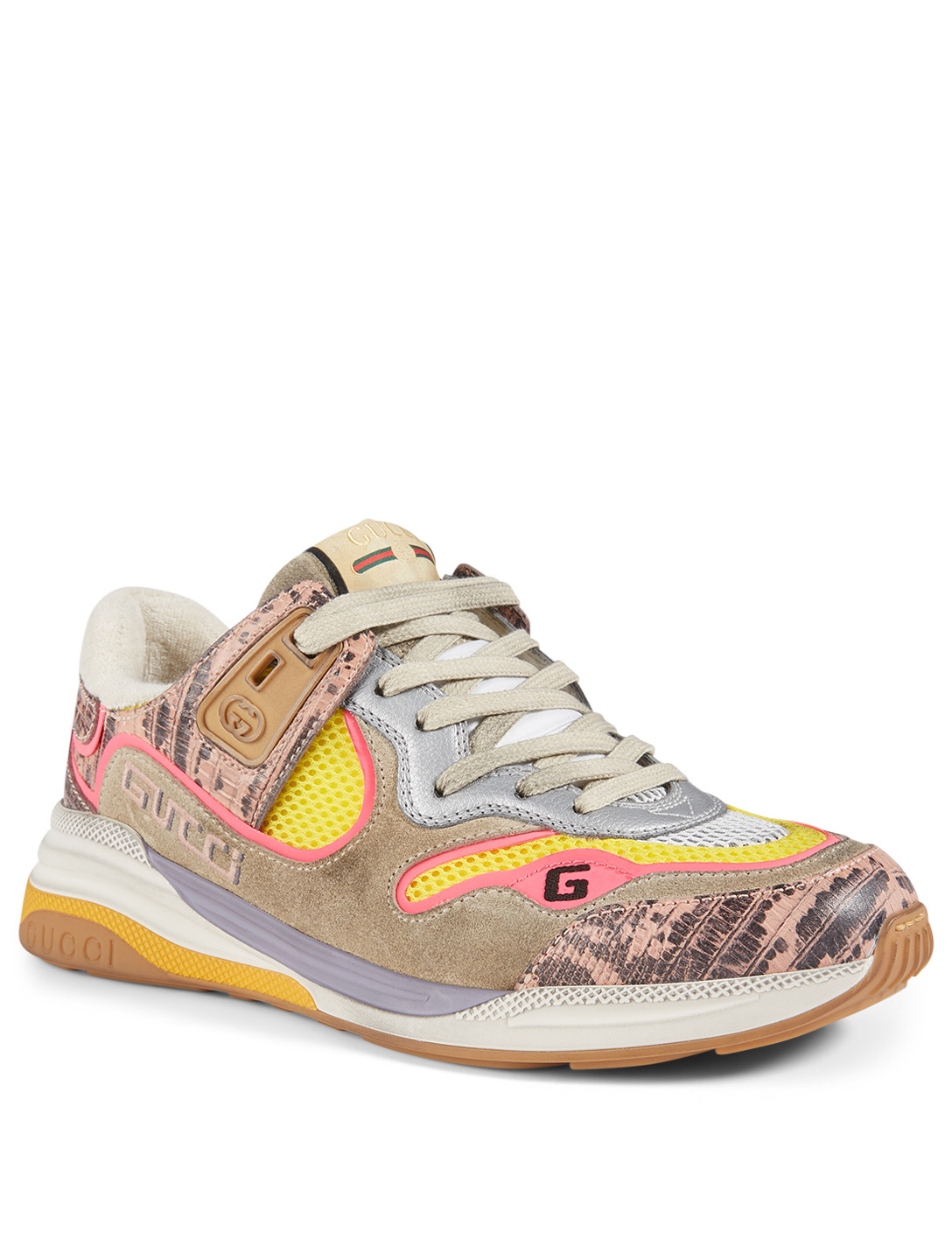 GUCCI Ultrapace Mixed-Media Sneakers Women's Multi