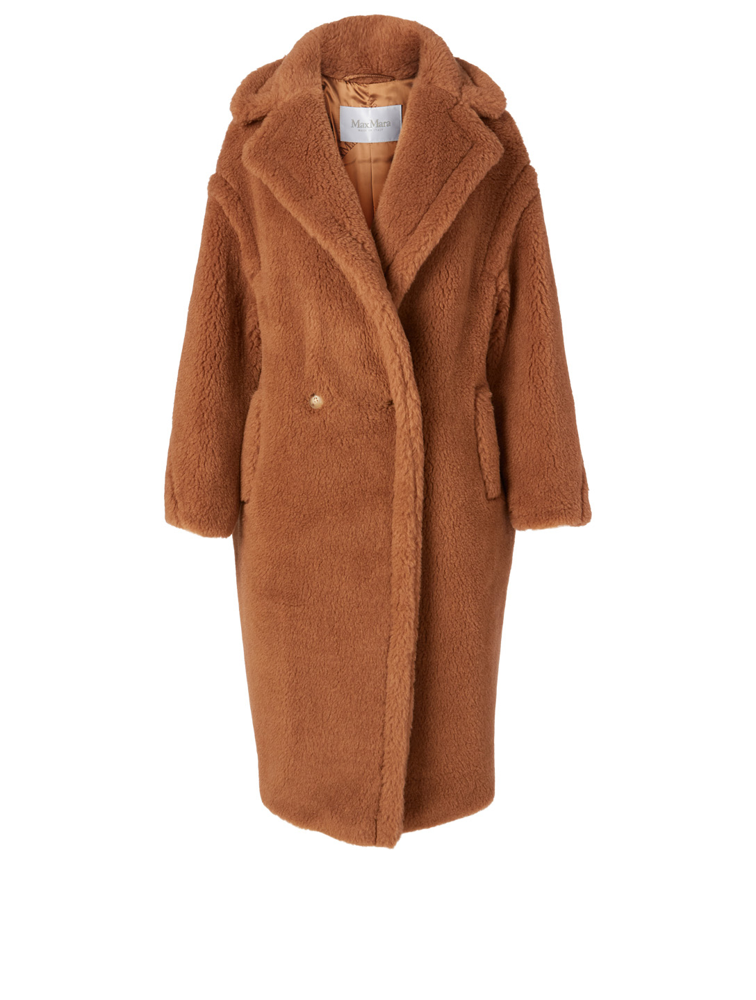 MAX MARA Teddy Bear Icon Camel Wool Double-Breasted Coat Women's Brown