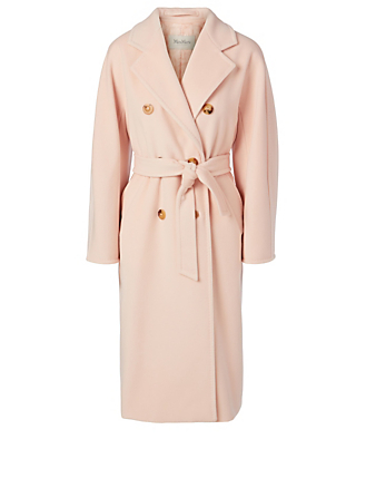 MAX MARA Madame 101801 Icon Wool Double-Breasted Coat Women's Pink