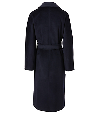 MAX MARA Madame 101801 Icon Wool Double-Breasted Coat Women's Blue