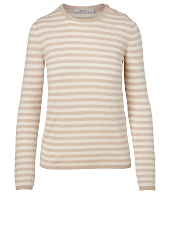MAX MARA Berma Silk And Cashmere Sweater Women's White