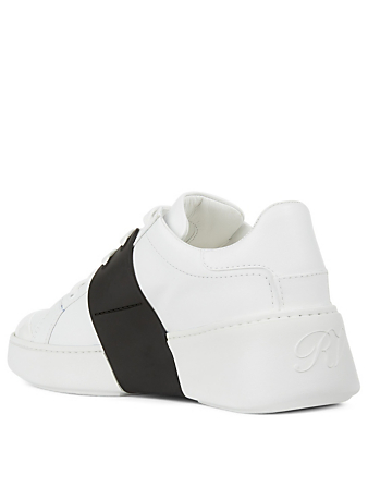 ROGER VIVIER Viv' Skate Leather Sneakers Women's White