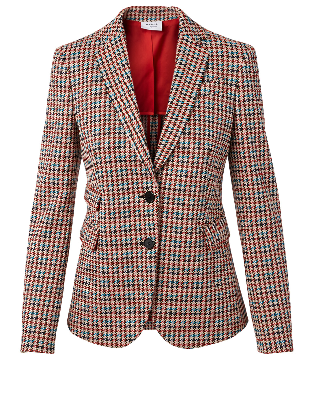 AKRIS PUNTO Blazer In Houndstooth Print Women's Black