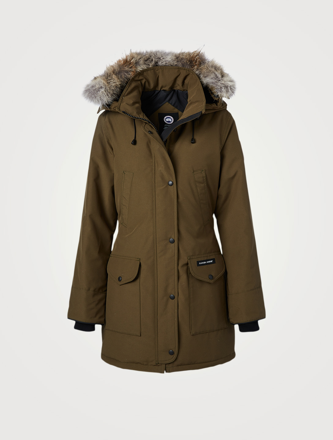 CANADA GOOSE Trillium Down Parka With Fur Hood Women's Green