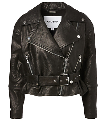 GRLFRND Charlie Leather Jacket Women's Black