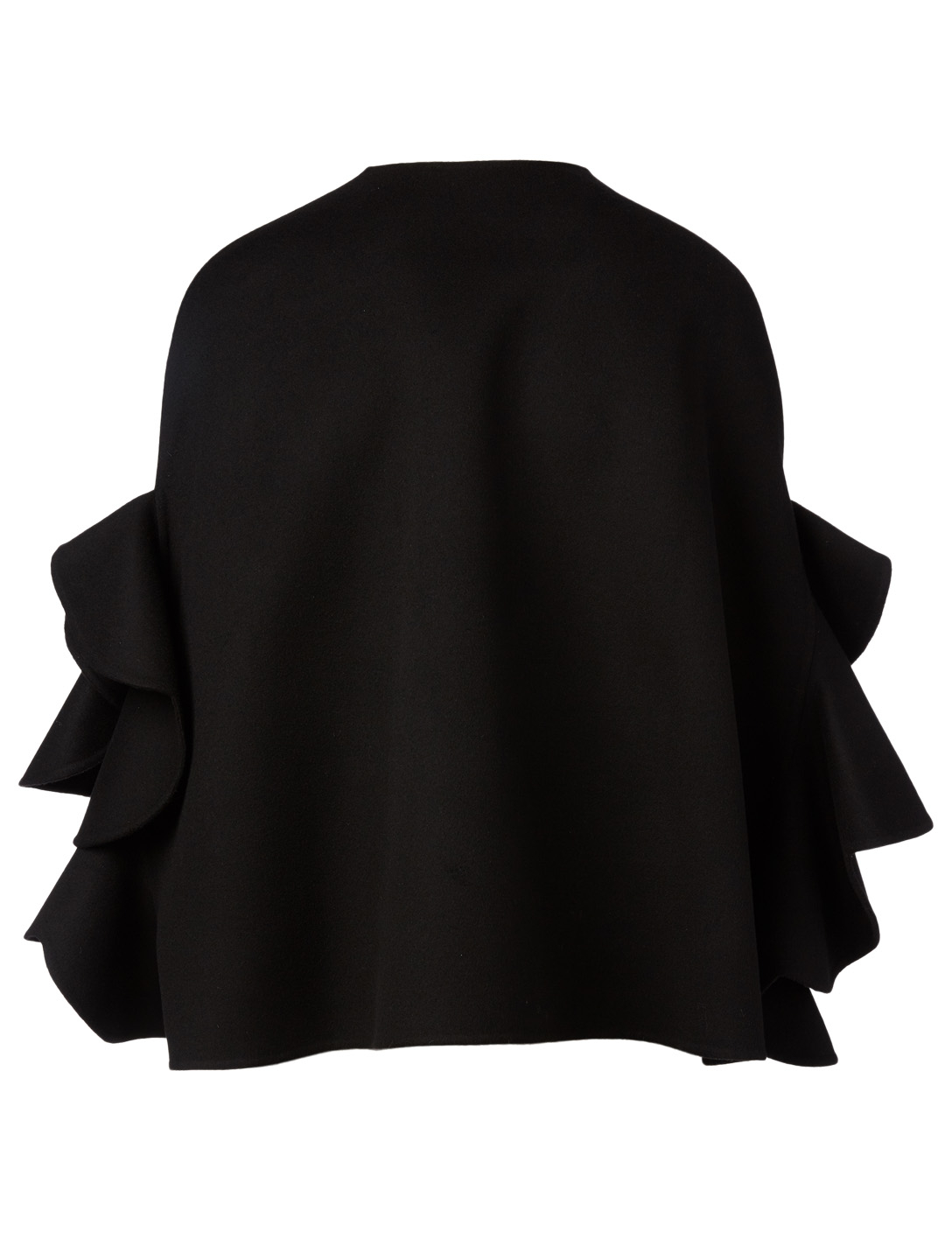 VALENTINO Wool And Cashmere Draped Cape Women's Black